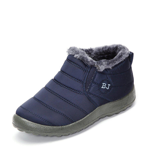 Women's Warm Fur Lined Ankle Slip-On Winter Snow Boots-Shoes-fastchics-Coffee-35-fastchics