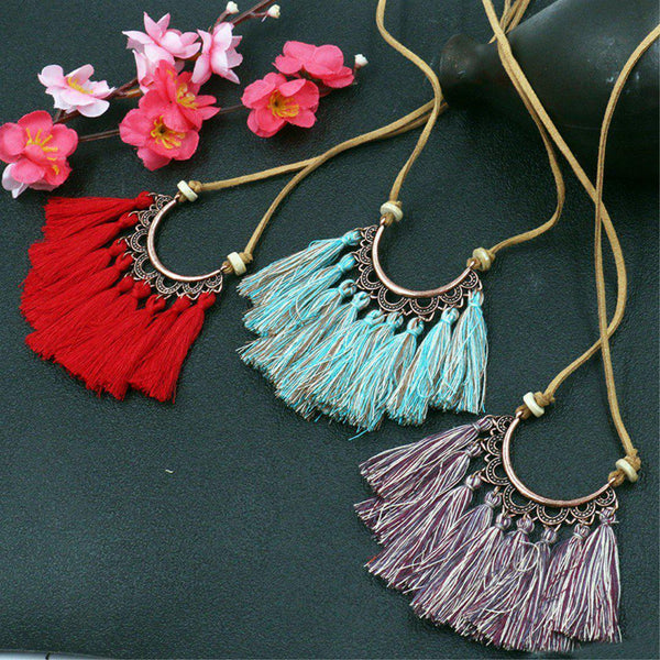Vintage Fringed Women All Season Necklace-Accessories-fastchics-Coffee-fastchics