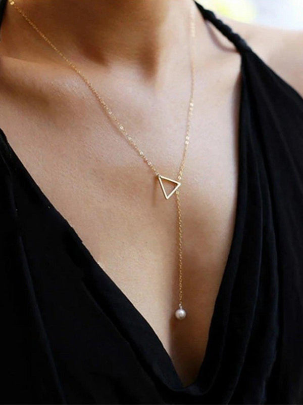 Women Necklaces Pearl Simple Adjustable Necklaces-Accessories-fastchics-Golden-One-size-fastchics