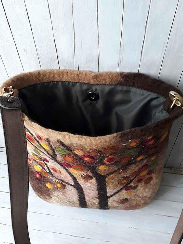 Women Vintage Floral Casual Fashion Bag-Accessories-fastchics-Brown-One-size-fastchics