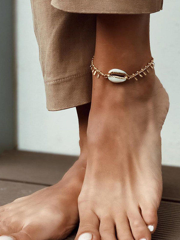 Chains Beach Metal Shell Anklet-Accessories-fastchics-As Picture-One-size-fastchics