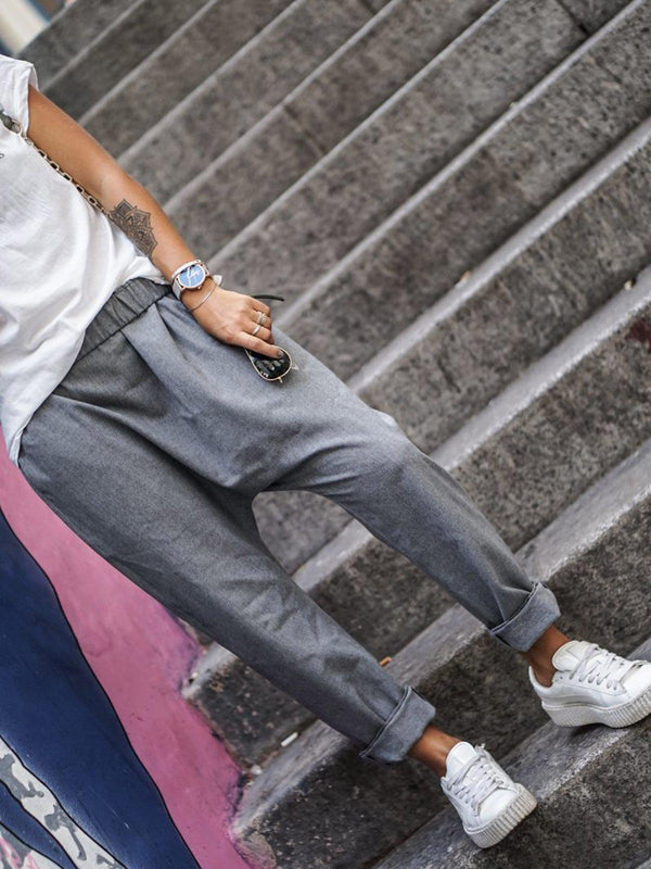 Casual Pants-Bottoms-fastchics-Blue-Gray-S-fastchics