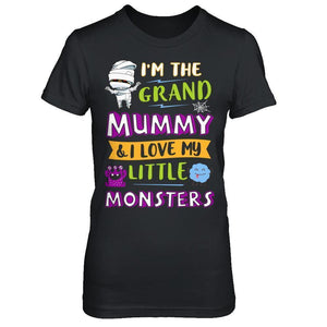 Halloween I'm The Grand Mummy And I Love My Little Monsters