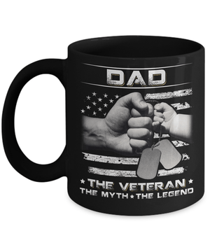 Dad The Veteran The Myth The Legend Mug