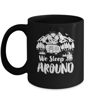 We Sleep Around Funny Husband Wife Camping Mug