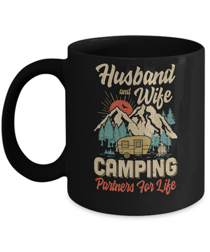 Husband And Wife Camping Partners For Life Camping Mug