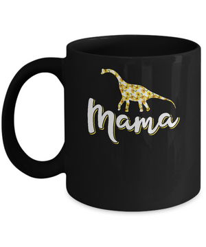 Sunflower Mama Saurus Dinosaur Mothers Day Gift Mug
