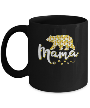 Sunflower Bear Mothers Day Gift Flowers Mama Floral Mug