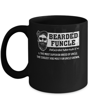 Bearded Funcle Funny Uncle Definition Beard Mug