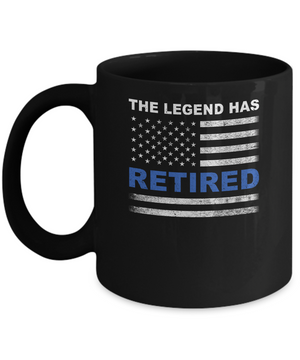 The Legend Has Retired Police Officer Retirement Gift Mug