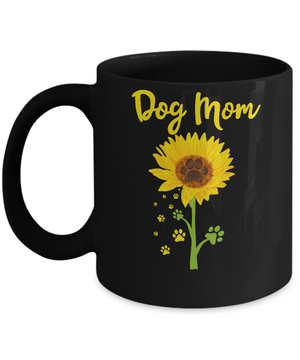 Funny Sunflower Dog Mom Paw Lover Mothers Day Mug