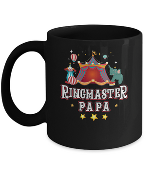 Ringmaster Papa Circus Carnival Children Party Mug