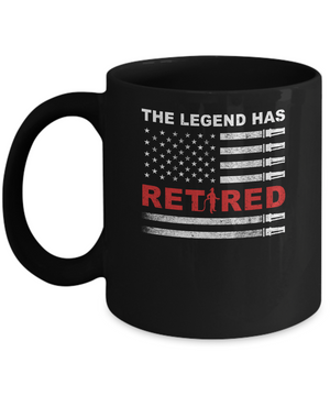 The Legend Has Retired Firefighter Retirement Gift Mug