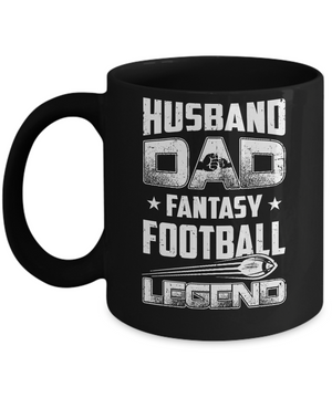 Husband Dad Fantasy Football Legend Fathers Day Gift Mug