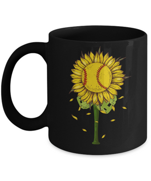 Sunflower Softball Mom Daughter Lover Gift Mug