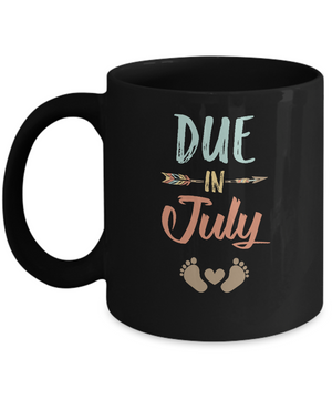 Due Date July 2019 Announcement Mommy Bump Pregnancy Mug
