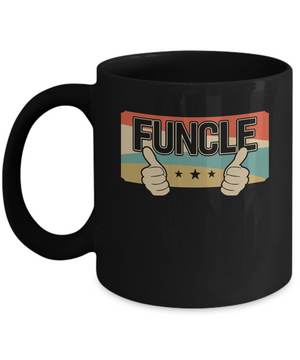 Vintage Retro Funcle Funny Uncle Only Cooler Mug