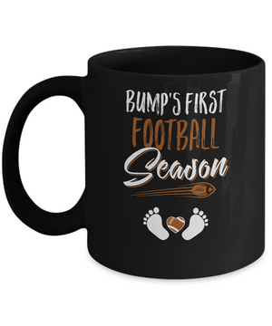 Bump's First Football Season Mommy Mothers Day Mug