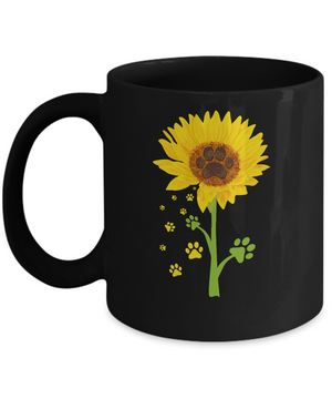 Funny Sunflower Cat Dog Paw Lover Mug