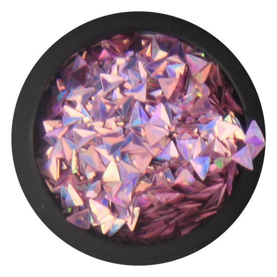 3D Triangles - Violet