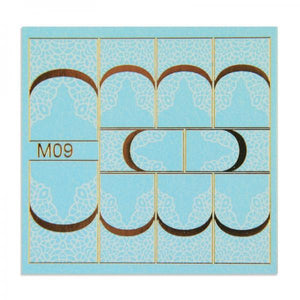 Metal effect stickers - M09