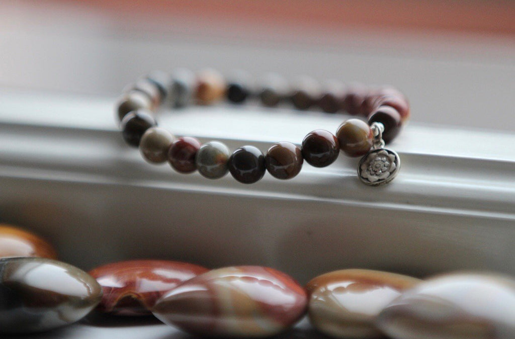 ATLANTIS Jasper with Lotusmandala charm