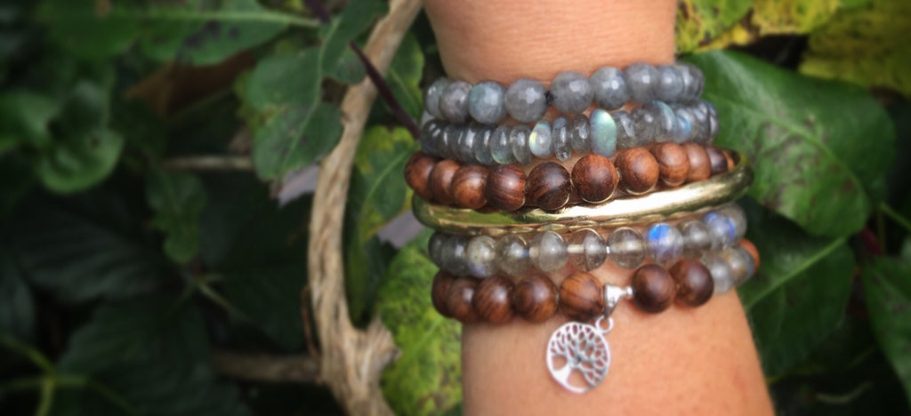 TRANSFORMATION Mala Bracelet in premium Blue Labradorite