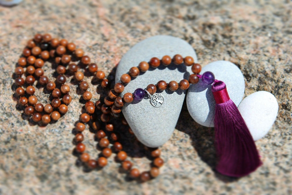 MY JOURNEY MY LIFE Mala - Ahimsa Wood and Amethyst