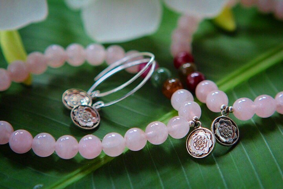 SOULSISTER bracelet in Rose Quartz and Tourmaline