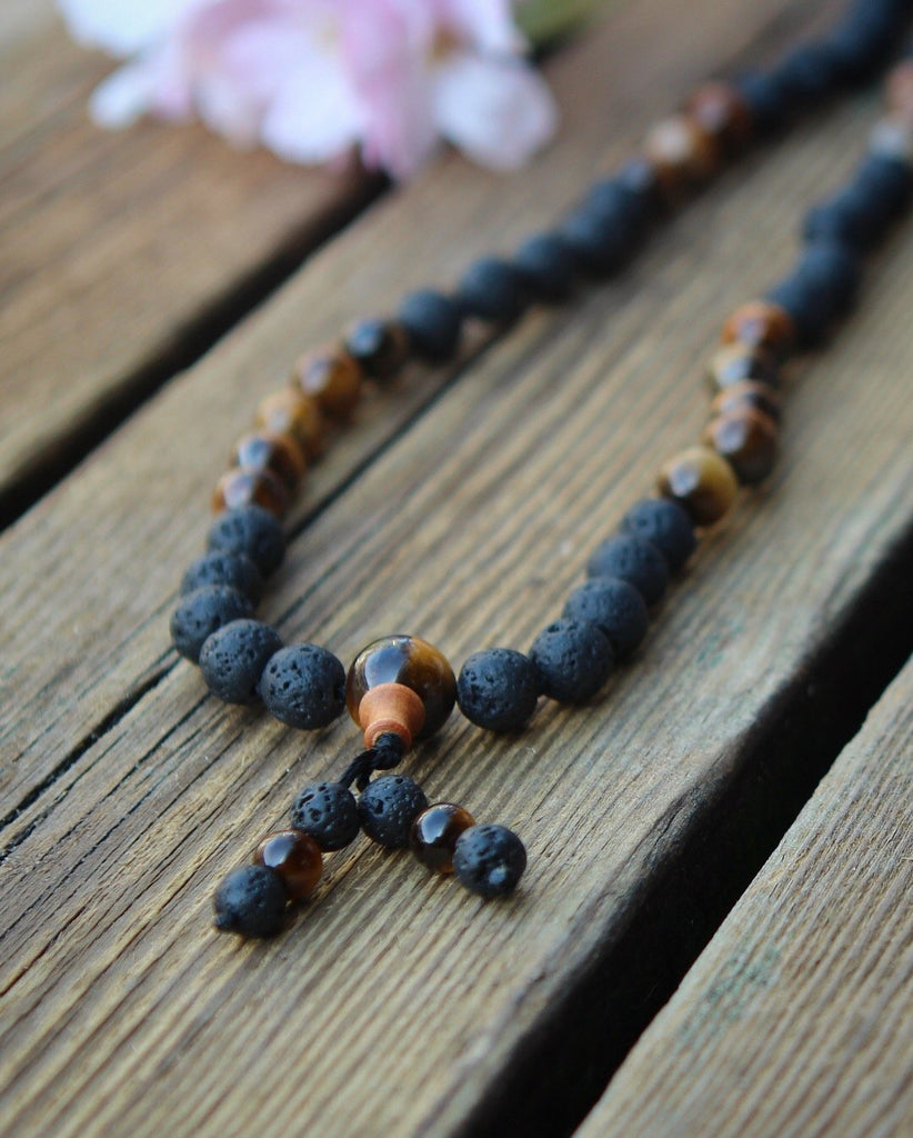PROTECTION mala in Lava & Tigereye