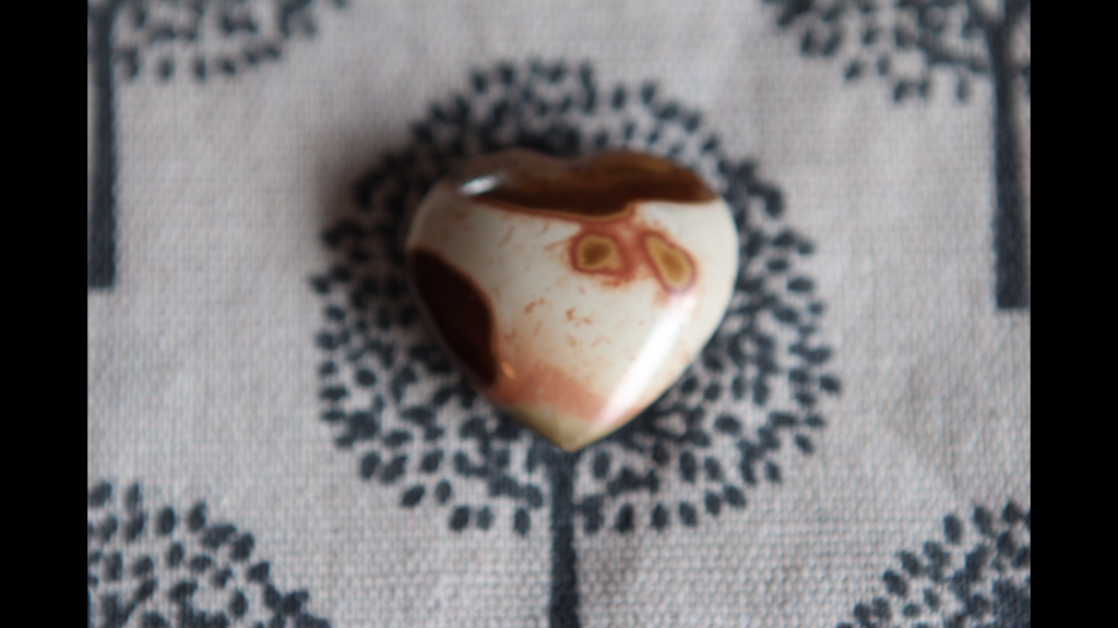 Beautiful Ocean Jasper Heartstone