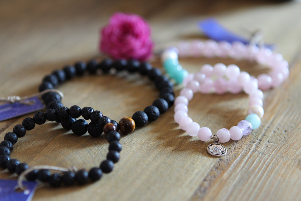 PROTECTION Kids bracelet Lava stone & Tigereye 6-12 years