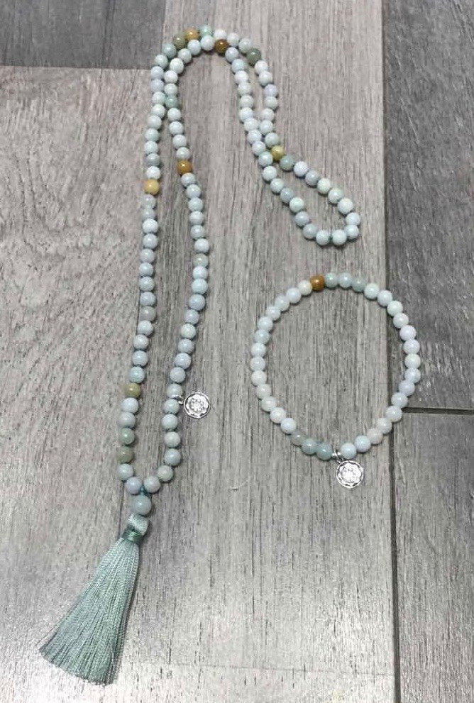 Mala Petite LIFE SALUTATIONS in Jade with green tassel