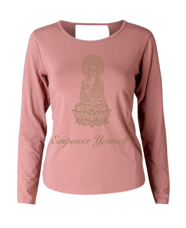 Eco Bamboo Long Sleeve Dusty Pink Print