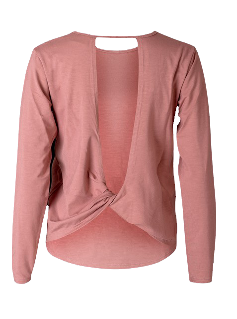 Eco Bamboo Long Sleeve Dusty Pink