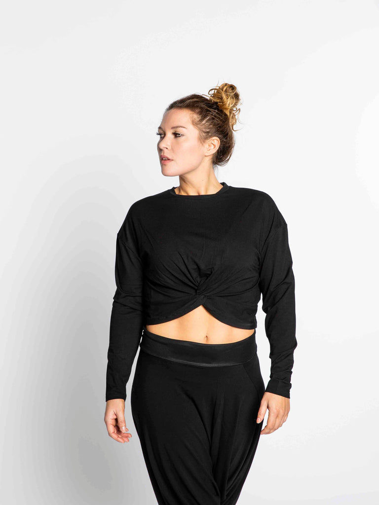 Yoga Crop Top Black