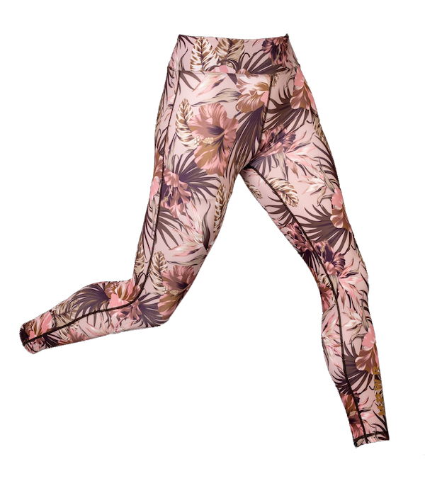 Fashion High Waist Dusty Tropics Yoga tights yoga wear
