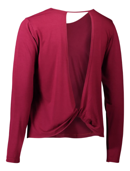 Eco Bamboo Long Sleeve Bordeaux Print Yoga wear