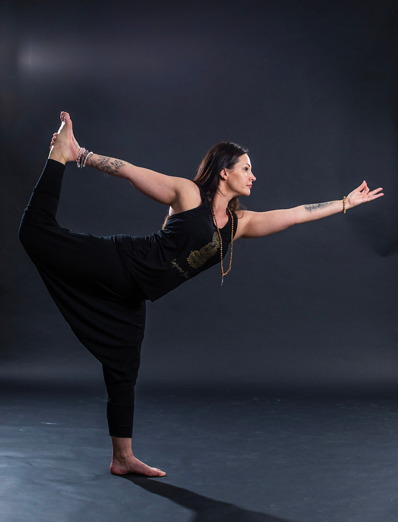 Eco Bamboo Harem Black yoga wear