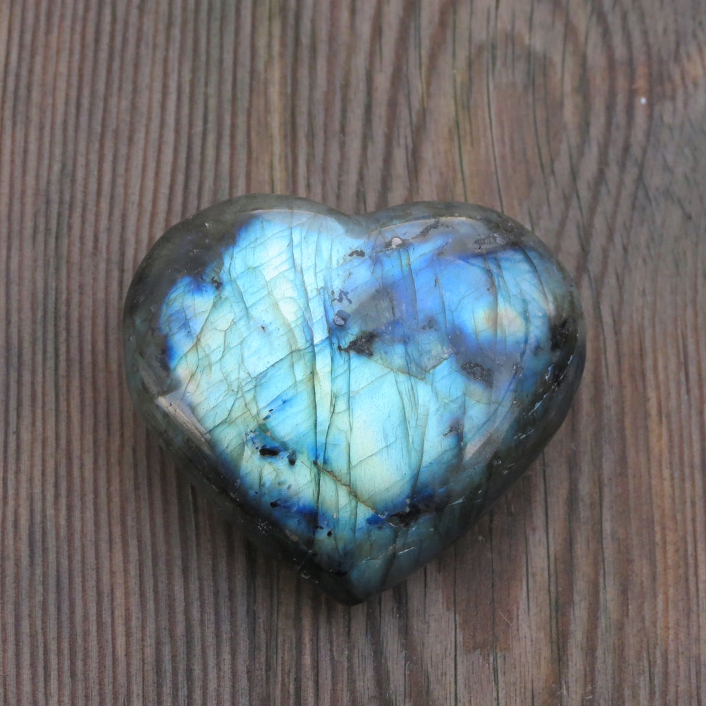 Beautiful Labradorite Heartstone