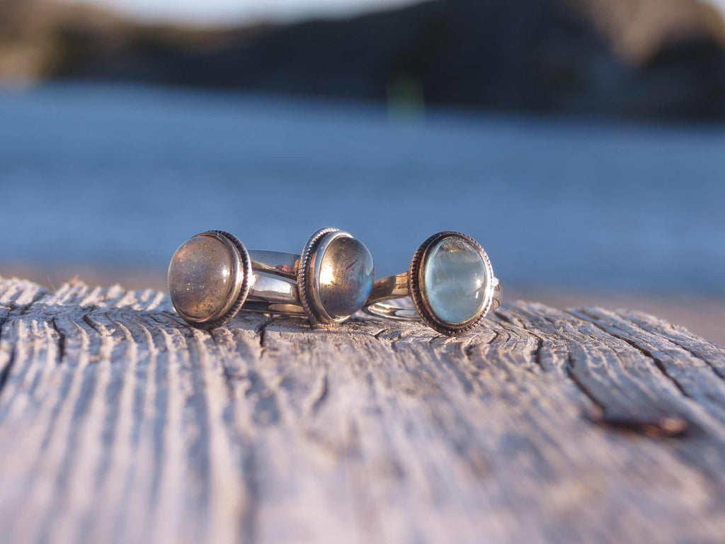 Ring in silver and Labradorite
