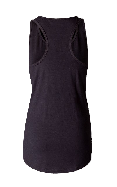 Eco Bamboo Loose Tank Black Print Yoga Wear