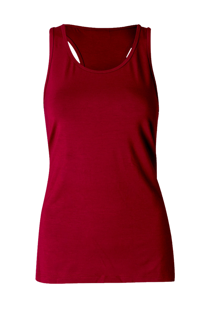 Eco Bamboo Loose Tank Bordeaux yoga wear