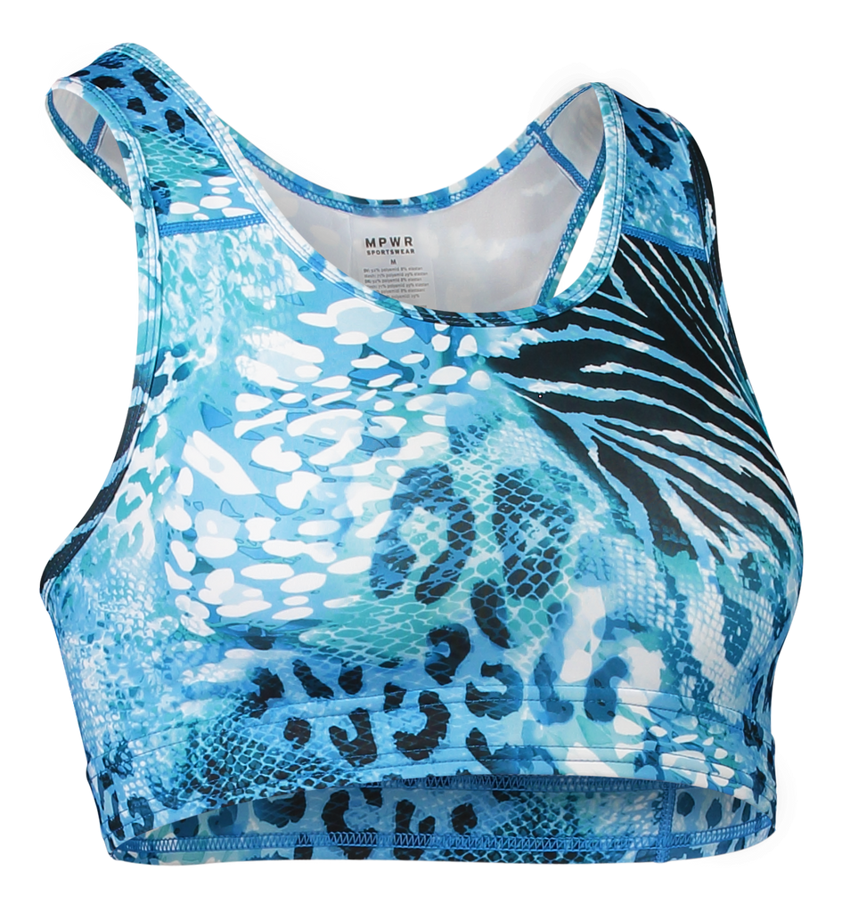 Low Support Sport Top Safari Blues Yoga wear
