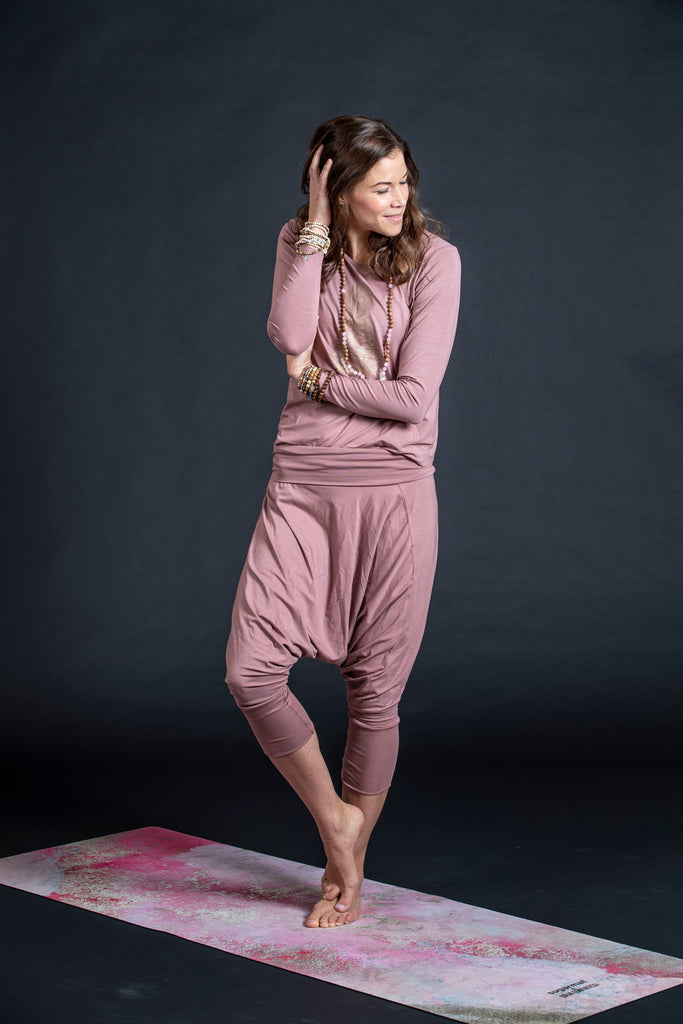 Eco Bamboo Harem Dusty Pink