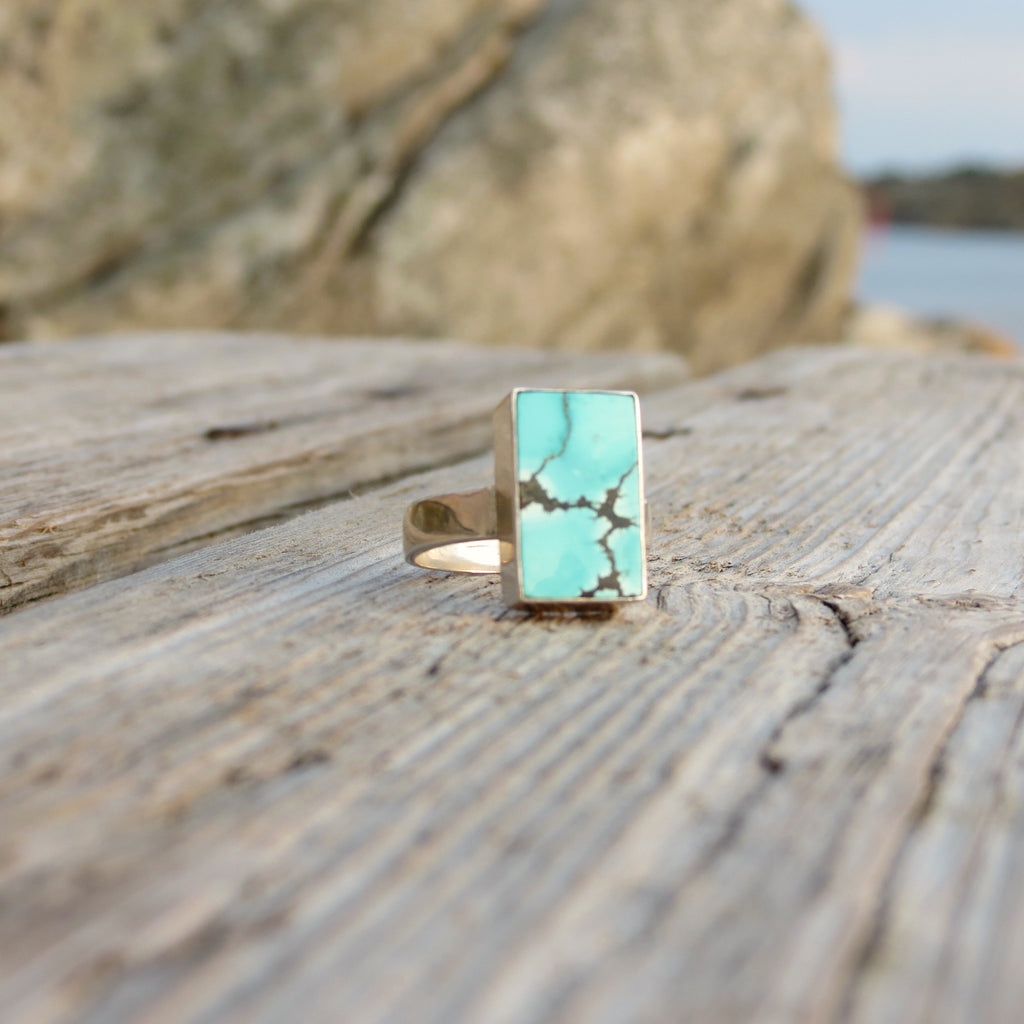Amazing ring in silver and genuine Turquoise