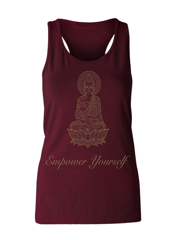 Eco Bamboo Loose Tank Bordeaux Print Yoga Wear