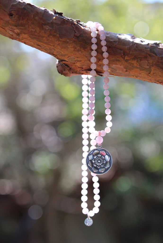 I am Mala in beautiful Rose quartz