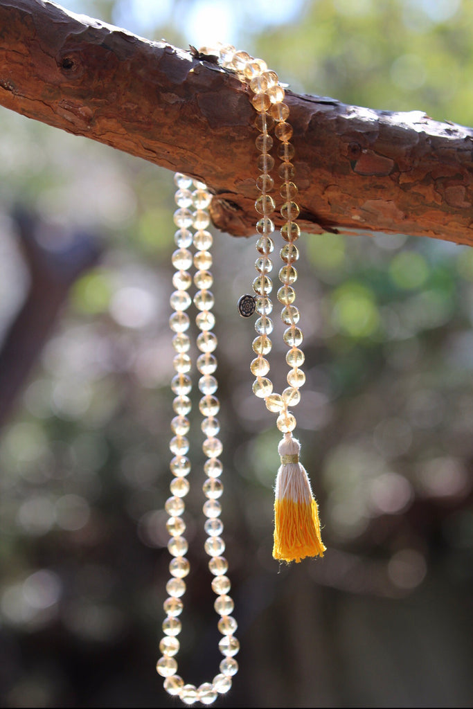 Sunkissed Love Mala in premium Citrine