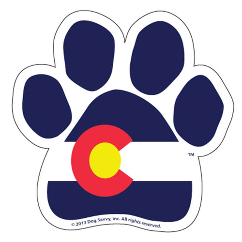 CO Paw Magnet